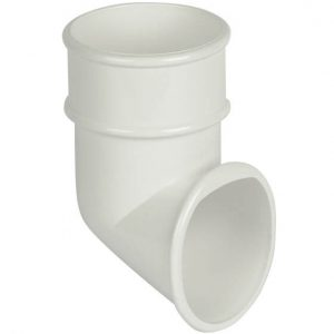 White Roundstyle Gutter 68mm Downpipe Shoe