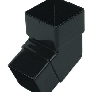 Black Squarestyle 65mm Gutter Downpipe 112* Bend
