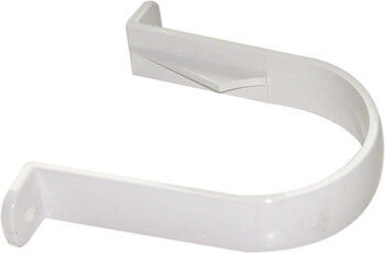 White Roundstyle Gutter 68mm Downpipe Bracket