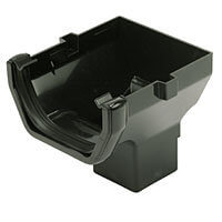 Black Squarestyle 114mm Gutter Stop End Outlet