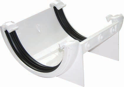 White Roundstyle Guttering 112mm Joiner Bracket