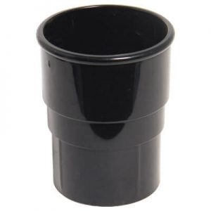 Black Roundstyle 68mm Gutter Downpipe Connector