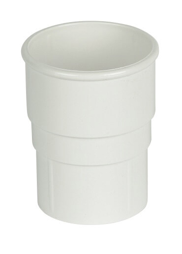 White Roundstyle 68mm Gutter Downpipe Connector