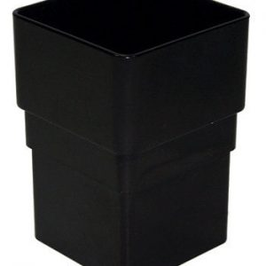 Black Squarestyle 65mm Gutter Downpipe Connector