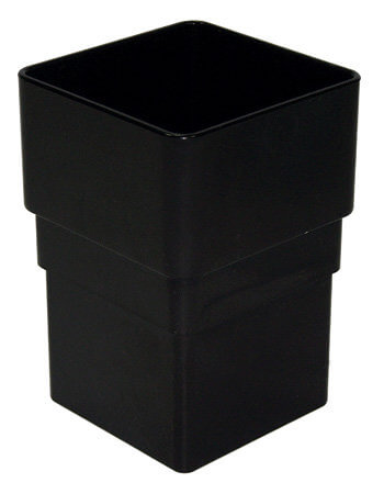 Black Squarestyle 65mm Gutter Downpipe Connector Olympus