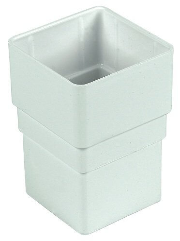 White Squarestyle 65mm Gutter Downpipe Connector