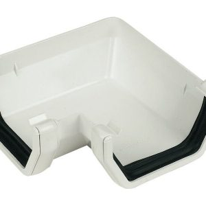 White Squarestyle 114mm Gutter 90* Angle
