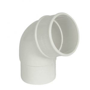 White Roundstyle Gutter 68mm Downpipe 112* Bend