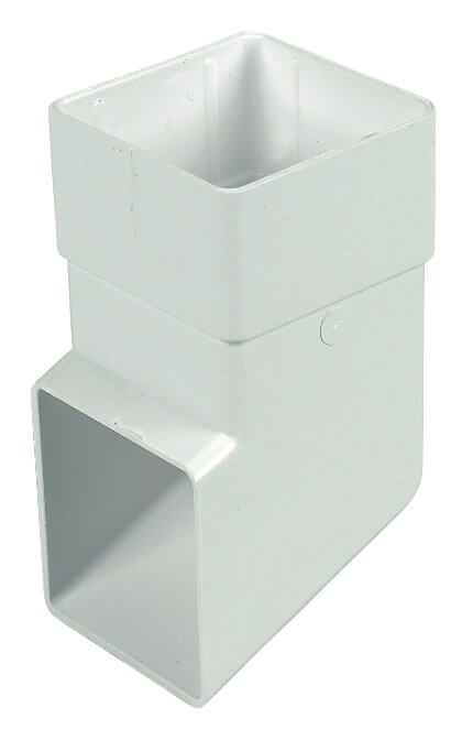 White Squarestyle 65mm Gutter Downpipe Shoe