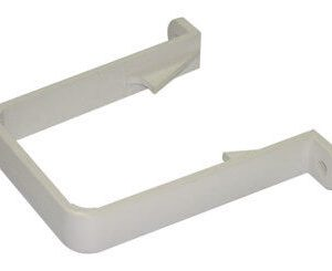 White Squarestyle 65mm Gutter Downpipe Bracket