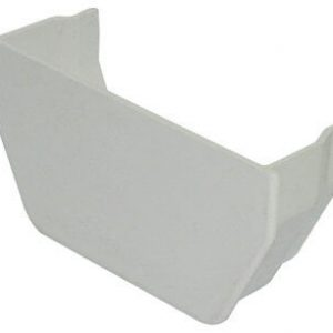 White Squarestyle 114mm Gutter Internal Stop End