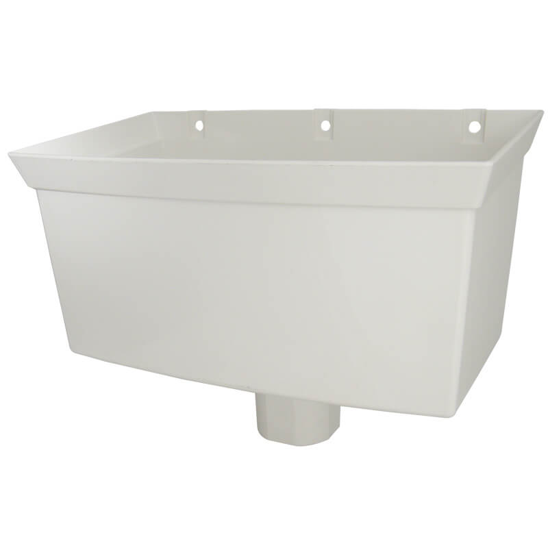 White Squarestyle 65mm Gutter Downpipe Head