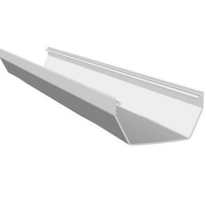 White Squarestyle 114mm Gutter 2M Length